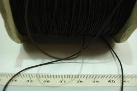 [ 7104 ] Hoeden Elastiek 1 mm. Bruin, per 10 meter