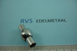 [ 6980 ] RVS,  Bol  4 mm. Inlijm Magneetslot, per stuk