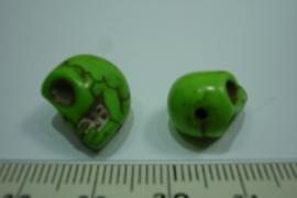 [ 0401 ] Doodshoofd 13 mm. Groen, per stuk