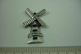 [ 1258 ] Molen  27.8 x 16 mm.  Zilverkleur, per stuk