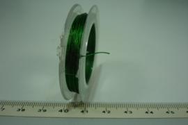 [ 8045-A ] Acculon draad 0.38 mm. Groen, rolletje 10 meter