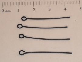 (5142) Kettelstift 30 mm git zwart. 30 stuks.