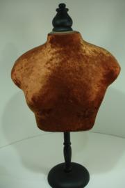 *[ 9375 ] Buste op stok 50 cm. Bruin Fluweel