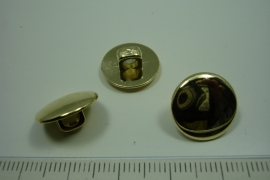 [ 0905 ] sluit Knoop 15 mm. Kunstof, Goud, per stuk