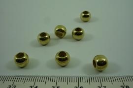 [ 6417 ] Metallook kraaltje 6.2 mm. Goud kleur, per stuk
