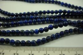 [ 8657 ] Lapiz Lazuli  4 mm.  per streng 39 cm.
