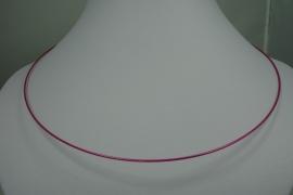[0722 ] Spang 47 cm. Donker Roze, met Draai slot, per stuk