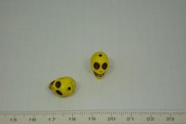 [0402 ] Doodshoofd 13 mm. Geel