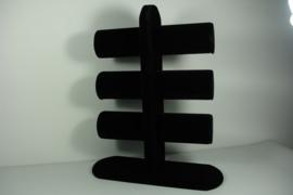*[9057 ] 3 Rol hoog 32 cm.  vast model, Zwart Fluweel