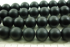 *[ 8567 ] Onyx Zwart mat  10 mm.  streng 39 cm.
