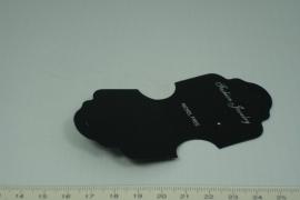 [5265 ] Oorbel/ ketting kaartje plastic klein,  10 stuks