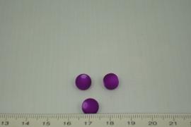 [0348 ] Glas kraal met rubber 8 mm. Paars