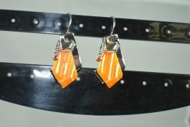 [OR,022] metalen Oorbel hang, type 2