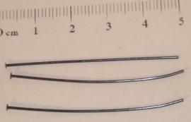 (5107) Nietstift 45 mm antraciet. 40 stuks.