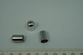 [0430 ] Kap met gaatje Verzilverd 9 x 14 mm.  per stuk