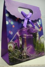 *[ 5957 ] Kerst Tasje  12.5 x 16 cm. Kerst doos, per stuk