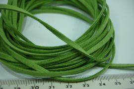 [ 6992 ] Suede Veter 3 mm. Groen, 5 meter