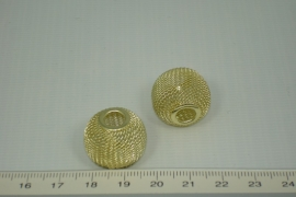 [1034 ] Net kraal,  21 x 15 mm, Verguld, per stuk