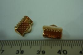 [ 6393-A ] Lintklemmen 10 mm. Rosé kleur, per 8 stuks