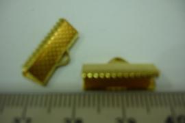 [ 6395-A ] Lintklemmen 16 mm. Goud kleur, per 8 stuks