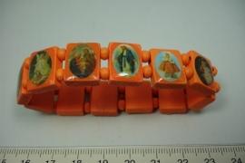 [5738 ] Geluks armband Oranje, per stuk
