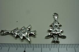 [ 0937 ] Kerstboom 26 mm. Metaal Zilverkleur, per stuk
