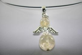 [ 1124 ] Bescherm Engel 4.3 cm. Berg Kristal, per stuk