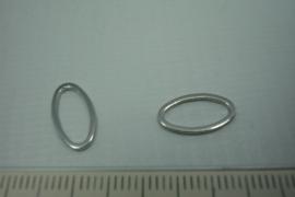 [0755 ] Ovale ring gesloten 13 x 7 mm. per stuk