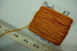[5309 ] Nylon koord 0.7 mm. Oranje,  10 meter