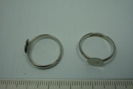 [ 0785 ] Ring met plakplaat van 8 mmChroom kleur, per stuk