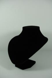 *[9043 ] Hals Punt Zwart Fluweel, Kort 18 cm.