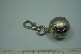 [5528 ] Metalen Voetbal sleute/tas hanger
