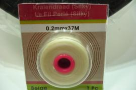 [ 7091 ] Kralendraad Silky  0.2 mm. Beige