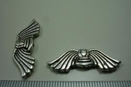 [ 0945 ] Vleugel 30 mm.  Metaal Zilverkleur, per stuk