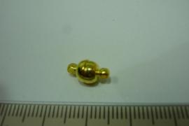 [ 6392 ] Magneet slotje 6 x 6½ mm. Goud kleur, per stuk
