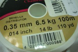 +[ 7097 ] Nylondraad sterk 0.35 mm. licht bruin