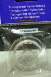 [ 7093 ] Transparant sterk Nylon draad 0.26 mm.