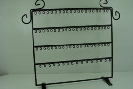 *[ 9338 ] 80 lussen display  Zwart metaal, 37 x 30 cm.