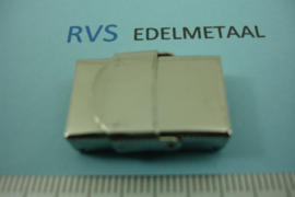 [ 8368 ] RVS,   Klik slotje 14 mm. x 4 mm. inw.   per stuk