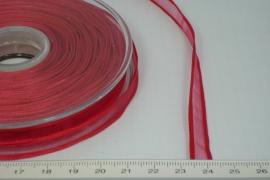 [8087 ] Organza lint  Rood  per Meter