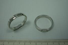 [ 0786 ] Ring met plakplaat van 5 mm. Zilverkleur, per stuk