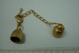 [0463 ] Inlijmslot 8 mm. met slot, Goudkleur, per set