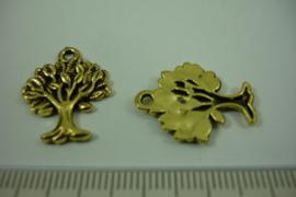 [ 1218 ] Levensboom 22 x 16.7 mm. Goudkleur,  per stuk