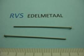 [ 8357 ] RVS, Nietstift 40 mm. per 40 stuks