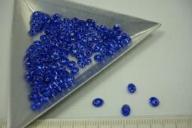 [5504 ] Twin Bead nr. 06, Blauw Zilverrug, +/- 122 stuks