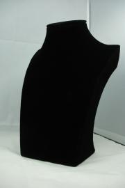 *[ 9087 ] Hals Luxe Zwart Fluweel, Mini 20 cm.