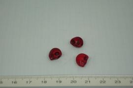 [0317 ] Doodshoofd  kraal 11 x 8 mm. Rood