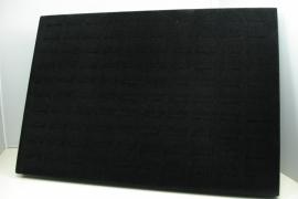 *[ 9106 ] 100 Ringen standaard, Zwart Fluweel, per stuk