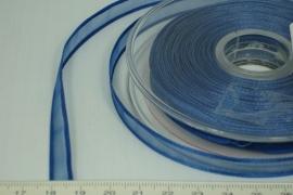 [8075 ] Organza lint  Donker Blauw per Meter