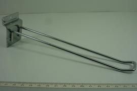 *[ 9247 ] Euro Haken 20 cm. voor Slatwall wand per 5 stuks